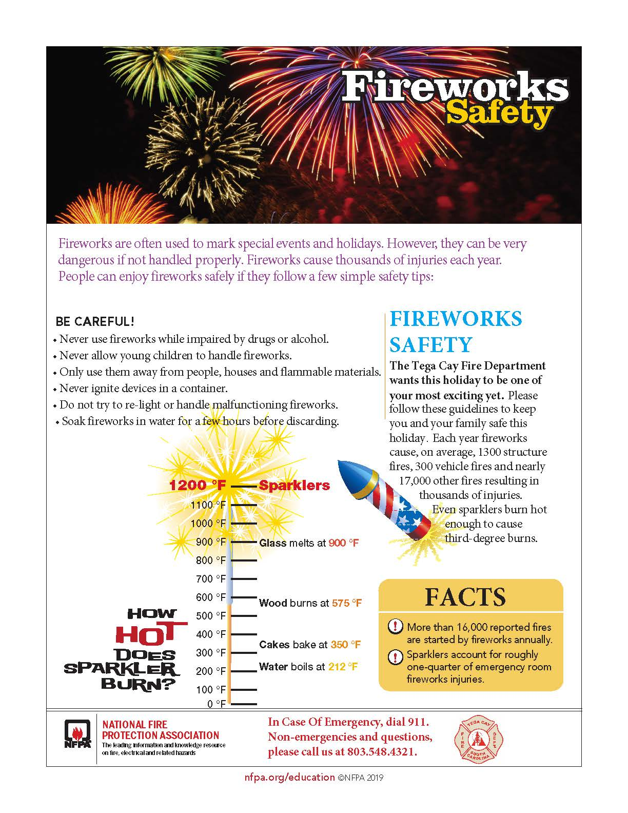 TCFD Fire Works Safety Tips